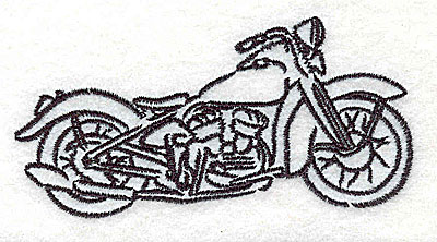 Embroidery Design: Motorcycle A 3.50w X 1.73h