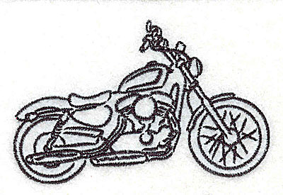 Embroidery Design: Motorcycle B 3.50w X 2.17h