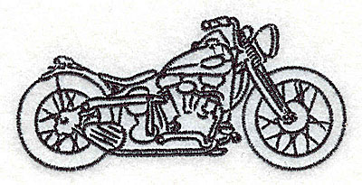 Embroidery Design: Motorcycle C 3.76w X 1.79h