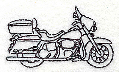 Embroidery Design: Motorcycle E 3.50w X 2.03h