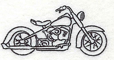Embroidery Design: Motorcycle F 3.50w X 1.70h