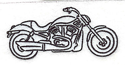 Embroidery Design: Motorcycle G 3.51w X 1.62h