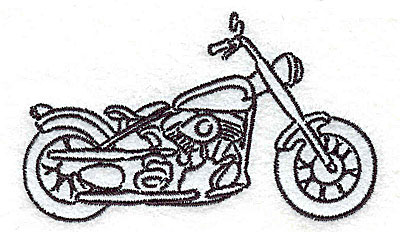 Embroidery Design: Motorcycle H   3.51w X 2.07h