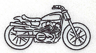 Embroidery Design: Motorcycle I 3.51w X 1.84h