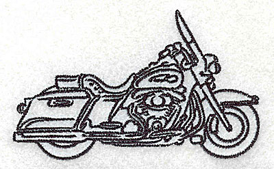 Embroidery Design: Motorcycle J 3.50w X 2.13h