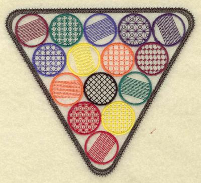 Embroidery Design: Rack of billiard balls large 5.58w X 4.98h