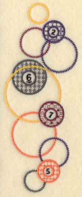 Embroidery Design: Balls and circles small 2.71w X 6.97h