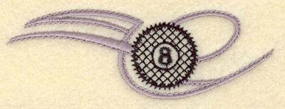 Embroidery Design: Eight ball horizontal small 3.81w X 1.39h