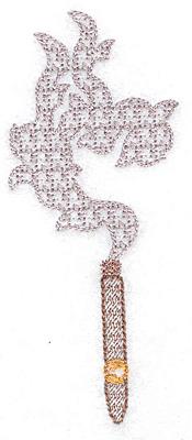 Embroidery Design: Cigar smoke mini 2.07w X 4.99h