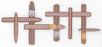 Embroidery Design: Cigars in a row 6.91w X 3.07h