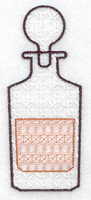 Embroidery Design: Decanter small 2.00w X 4.97h