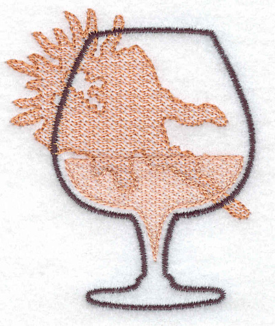 Embroidery Design: Brandy snifter small 2.73w X 3.34h