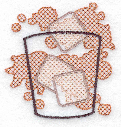 Embroidery Design: Glass with ice small 3.04w X 3.15h