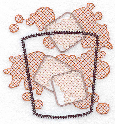 Embroidery Design: Glass with ice large 4.55w X 4.73h