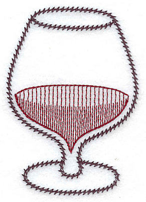 Embroidery Design: Snifter 2.52w X 3.59h