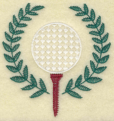 Embroidery Design: Golf ball on tee large 3.69w X 3.88h
