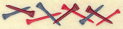 Embroidery Design: Golfing tee border 6.92w X 1.38h