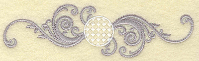 Embroidery Design: Golf ball with swirls small 6.80w X 1.89h