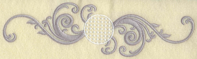 Embroidery Design: Golf ball with swirls large 10.05w X 2.79h