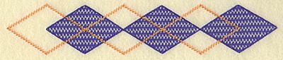 Embroidery Design: Plaid diamond border large 10.06w X 1.95h