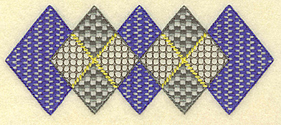 Embroidery Design: Plaid diamond border 5.71w X 2.35h