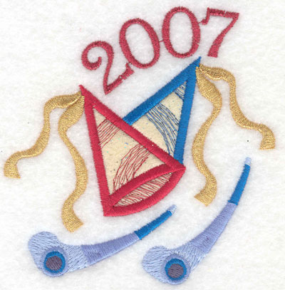 Embroidery Design: Party Hats Applique 20074.47w X 4.55h