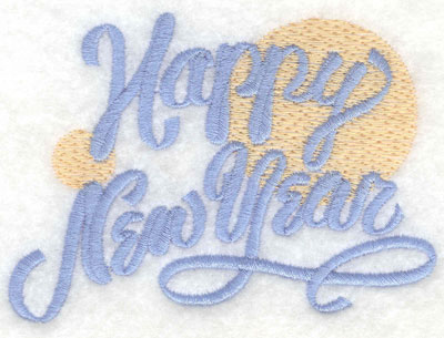 Embroidery Design: Happy New Year with Bubbles3.91w X 2.89h