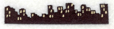 Embroidery Design: Night Cityscape Small3.90w X 0.80h