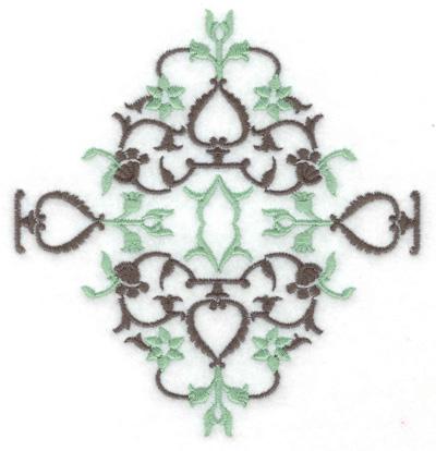 Embroidery Design: Design J large 4.66w X 4.91h