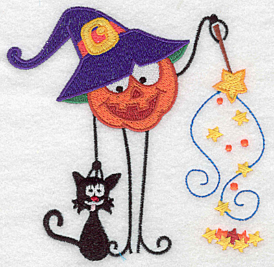 Embroidery Design: Mr. Pumpkinhead witch large 4.95w X 4.91h