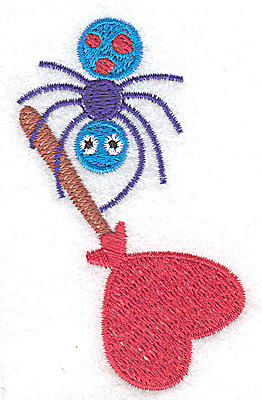 Embroidery Design: Spider with lollipop 1.96w X 3.08h