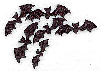 Embroidery Design: Bats 3.56w X 2.57h
