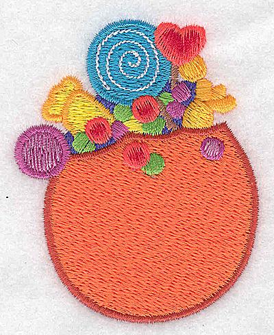 Embroidery Design: Pumpkin full of treats 2.43w X 3.02h