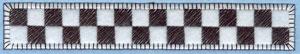 Embroidery Design: Checkered Flag Border Applique6.57w X 1.06h
