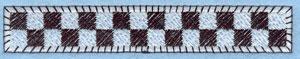 Embroidery Design: Checkered Flag Border Applique4.60w X 0.75h