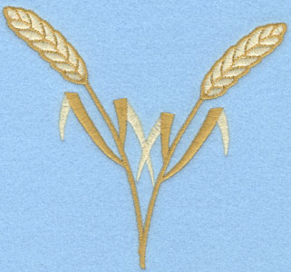 Embroidery Design: Double Wheat Sheaf Vertical4.57w X 4.25h