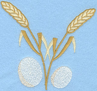 Embroidery Design: Wheat Sheaf with Eggs4.57w X 4.25