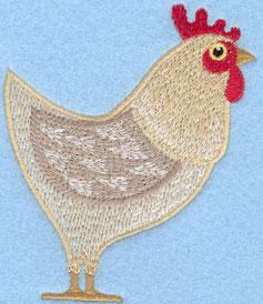 Embroidery Design: Hen Small3.13w X 3.81