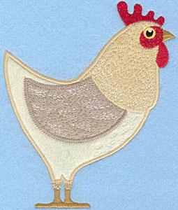 Embroidery Design: Hen Large Applique 5.09w X 6.19h