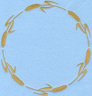 Embroidery Design: Circular Wheat Sheaf B6.47w X 6.81h