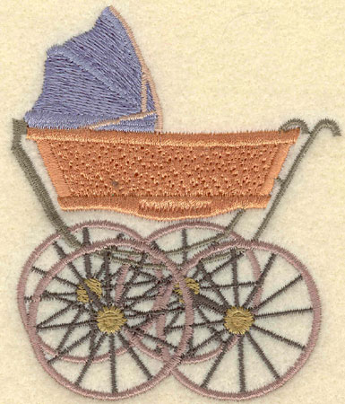 Embroidery Design: Baby Carriage3.15w X 3.78h