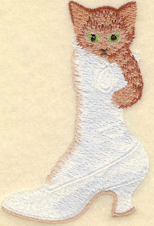 Embroidery Design: Kitten in Boot2.58w X 3.84h