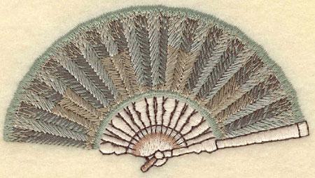 Embroidery Design: Fan3.76w X 2.07h