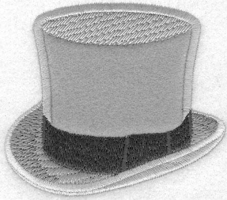 Embroidery Design: Top Hat Applique3.50w X 3.06h