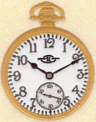 Embroidery Design: Pocket Watch Applique2.79w X 3.53h