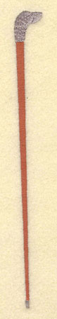 Embroidery Design: Walking Cane0.65w X 7.02h