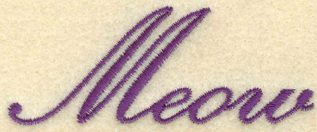 Embroidery Design: Meow3.01w X 1.17h