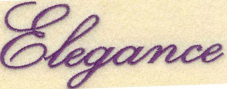 Embroidery Design: Elegance3.91w X 1.59h