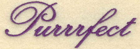 Embroidery Design: Purrfect3.91w X 1.41h