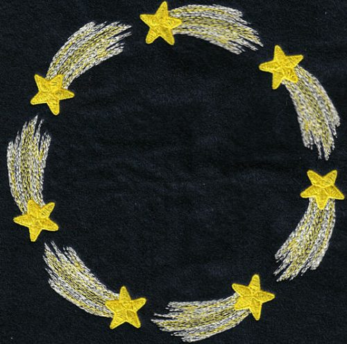 Embroidery Design: Shooting Star Circle7.47w X 7.32h